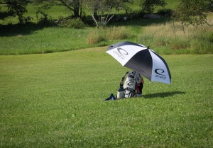 2015 Vacationland Open - SMV - The rig for a long day in the hot sun with minimal shade provided by the course. Photo courtesy of Ashley Mower/SMV