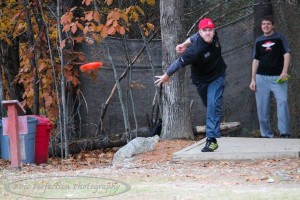 Teeing off on hole 9 during the second round of the 2015 Thorndike Memorial. Photo courtesy of Pic Perfection Photography.